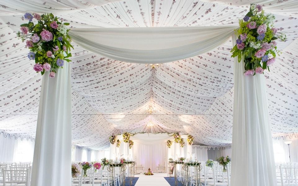 Asian Wedding Ceremony Mandap Marquee Poundon House 05