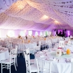 Reception-Marquee-Coloured-Uplights-Poundon-House